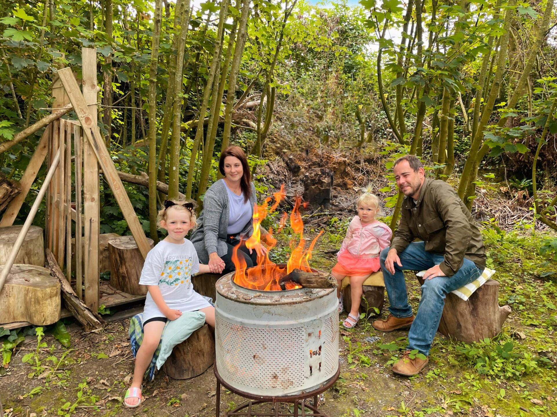 Court Farm Holidays Woodland Fire Pit Marshmallow Toasting