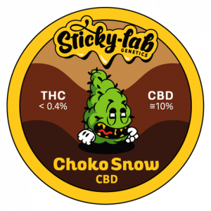 Cannabis CBD Choko Snow Sticky Lab Genetics