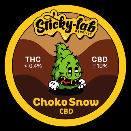 Cannabis CBD Choko Snow Sticky Lab Genetics
