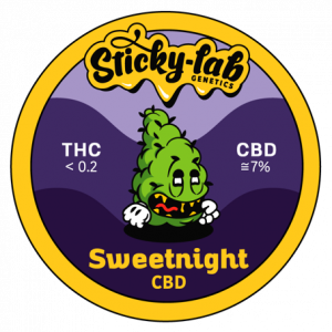 Cannabis CBD Sweetnight Sticky Lab Genetics