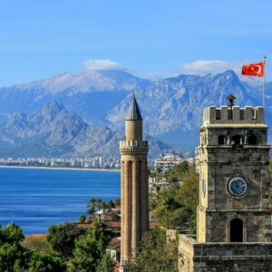 The 2nd-century Hidirlik Tower, Antalya, Turkey