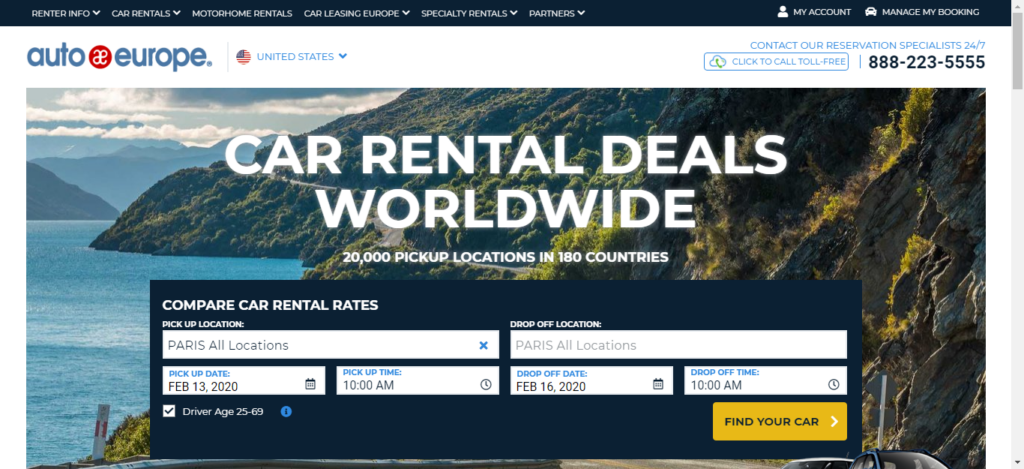 Auto Europe - Car Rental Site