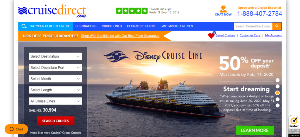 Cruise Direct - Cruise Booking Site