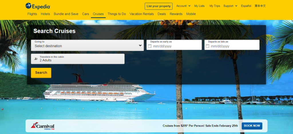 Expedia - Cruise Booking Site