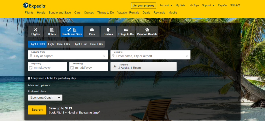 Expedia-Hotel Booking Website
