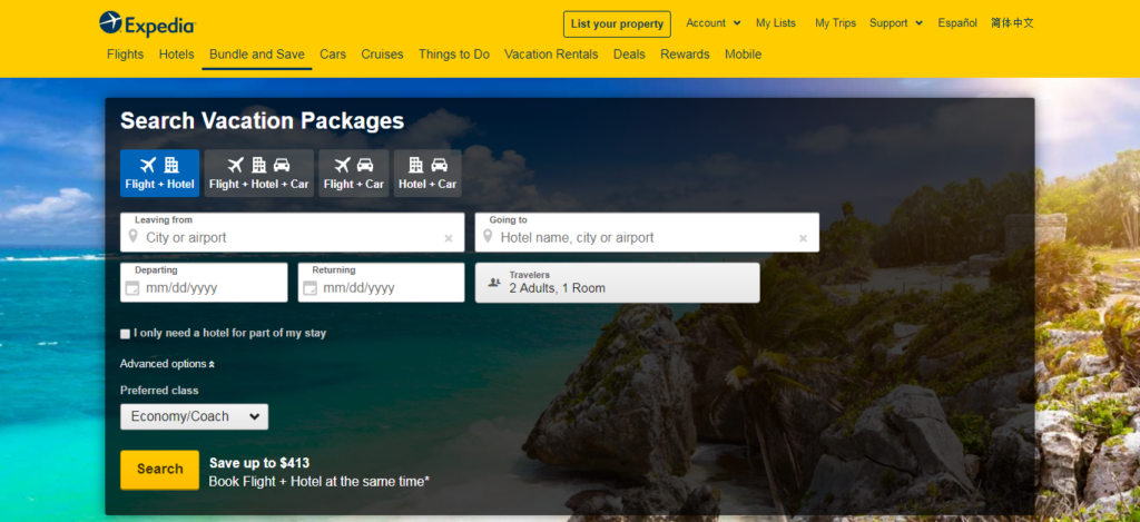 Expedia - Vacation Packages
