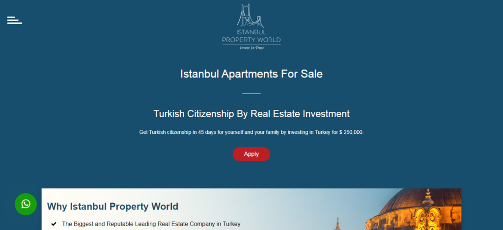 Istanbul Property World Website