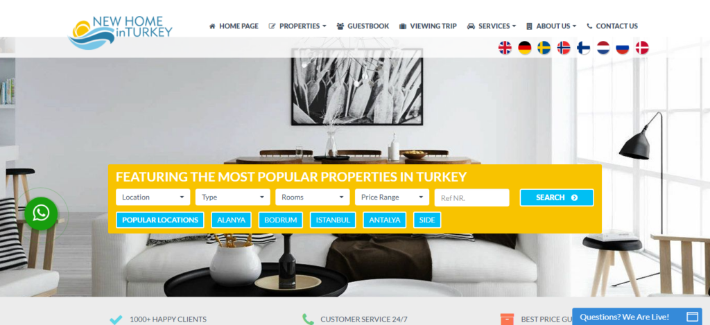 New Home in Turkey Website