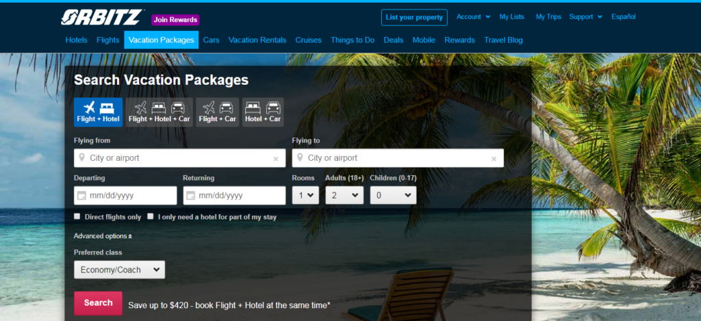 Orbitz - Vacation Packages