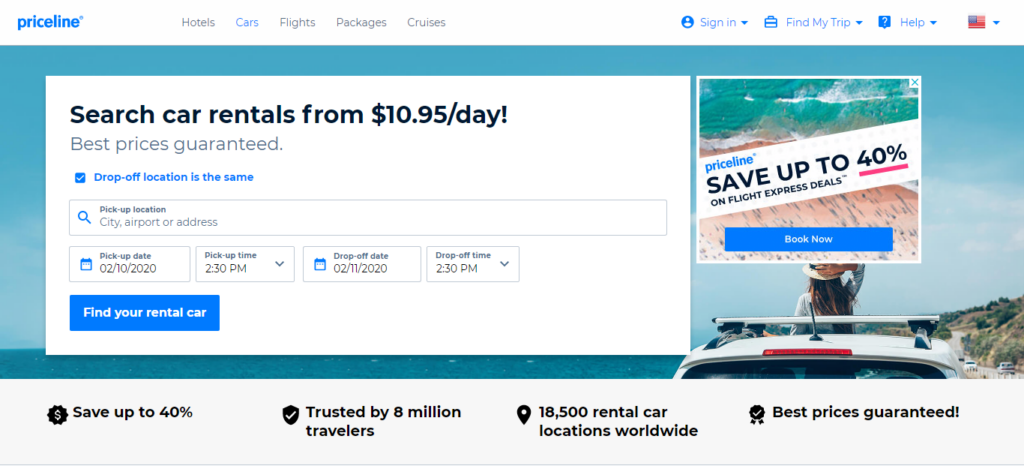 Priceline - Car Rental Site