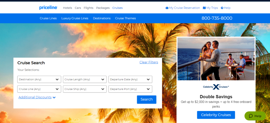 Priceline - Cruise Booking Site