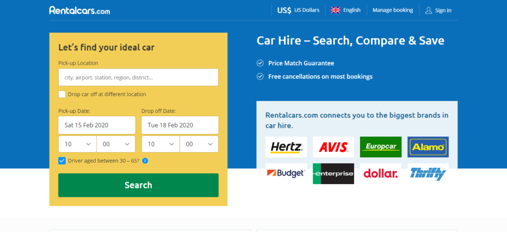 Rentalcars.com- Car Rental Site