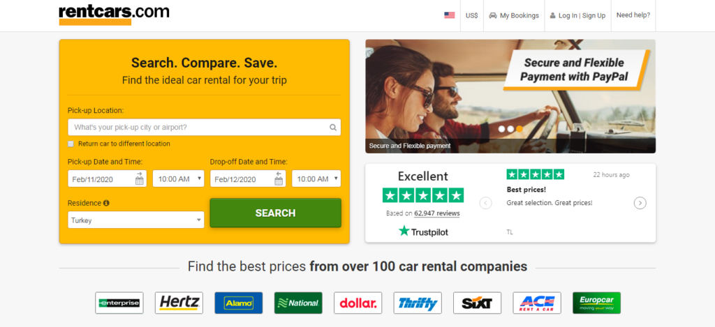 Rentcars.com - Car Rental Site