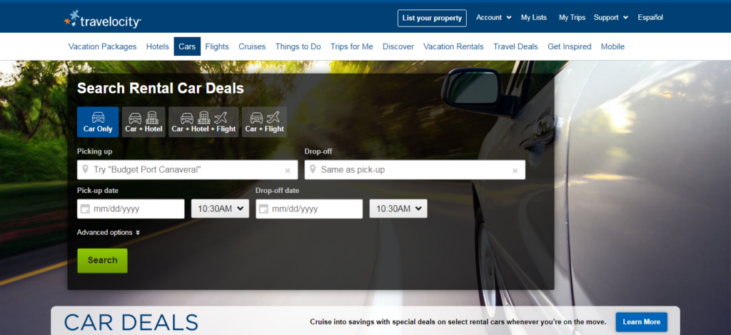 Travelocity - Car Rental Site