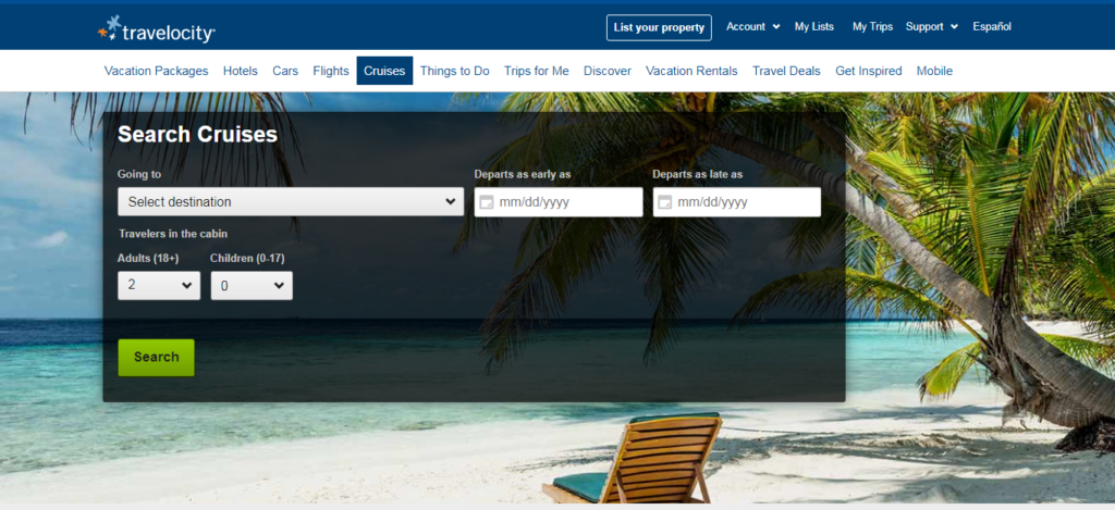 Travelocity - Cruise Booking Site