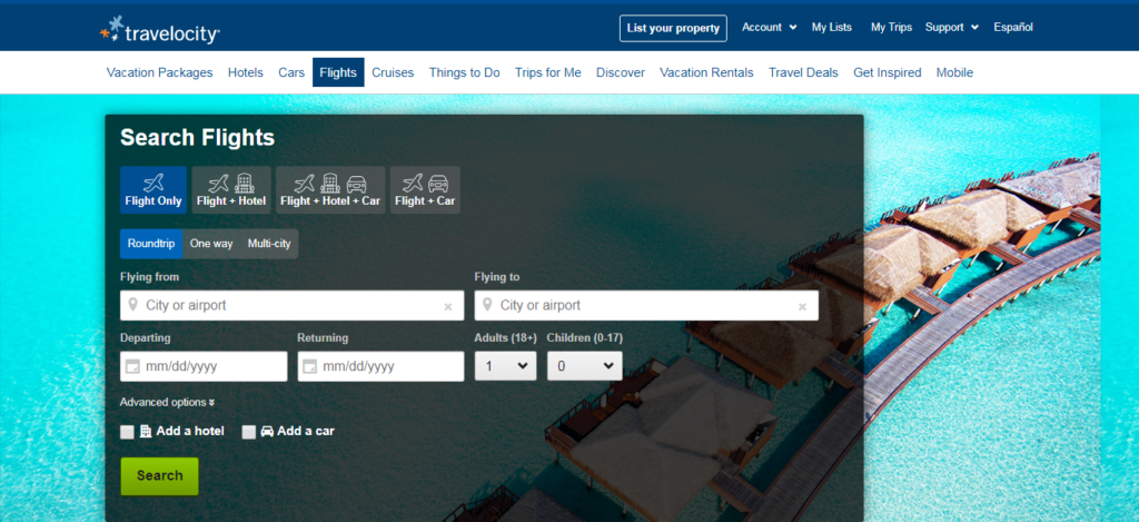 Travelocity- Flight Booking Site