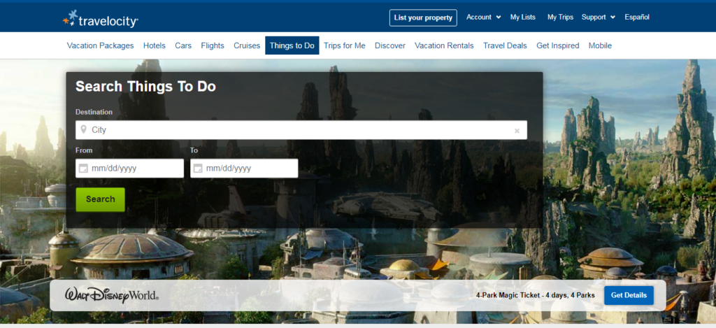 Travelocity - Things To Do