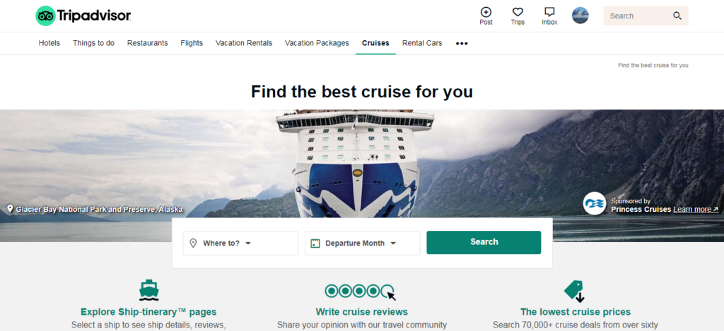 TripAdvisor - Cruise Booking Site