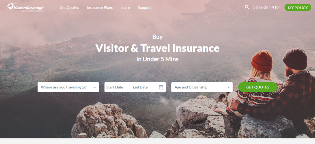 VisitorsCoverage - Travel Insurance