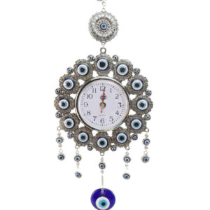 Beautiful Turkish Evil Eye Wall Clock Hanging