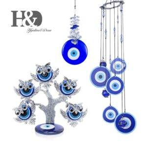 Lucky Turkish Evil Eye Tree Figurine 3 Pcs