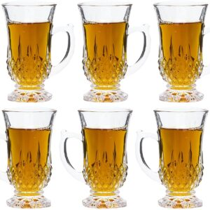 Set of 6 Classic Cut Authentic Turkish Tea Cups