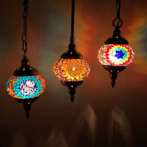 Turkish Stained Glass Handmade  Mosaic Lamp