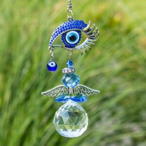 Crystal Angel Suncatcher Turkish Blue Evil Eye
