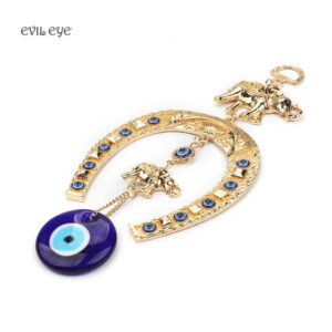 Ethnic Style Turkish Blue Evil Eye Wall Hanging