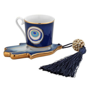 Turkish Handcrafted Evil Eye Coffee Set