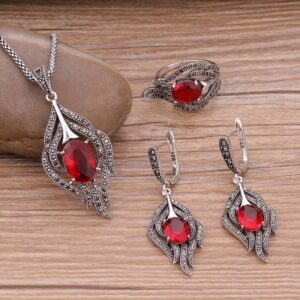 Sellsets Vintage Feather Antique Jewelry Sets