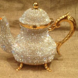 Handmade Luxury Gold Swarovski Turkish Tea Pot