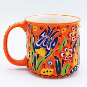 Handmade Turkish Ceramic Coffee Mug