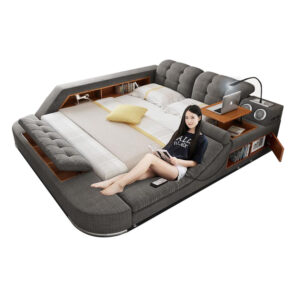 Luxury Ultimate Bed with Massage Chair & Speakers