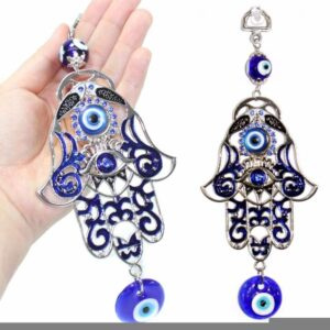 Turkish Blue Evil Eye Amulet Wall Hanging