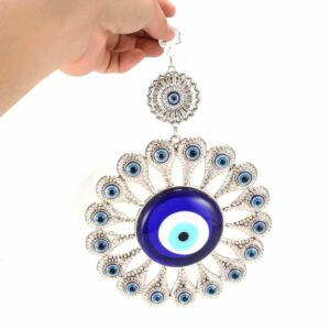 Turkish Blue Glass Evil Eyes Wall Hanging Charm