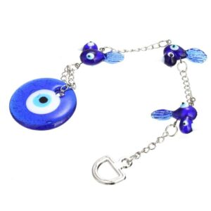 Turkish Evil Eye Pendant Swallow Amulet