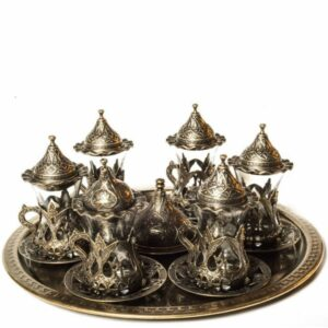 Ottoman Turkish Tea Coffee Cups Set