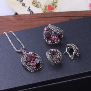 Silver Color Vintage Jewelry Sets For Women