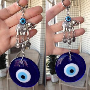Wall Hanging Turkish Elephant Blue Evil Eye