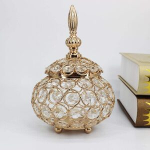 Crystal Candle Holder Candlestick Jewelry Box