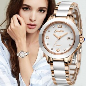 Fashion Rose Gold Bracelet Watches For Women