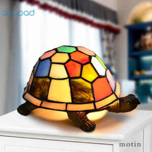 Mediterranean Style Stained Glass LED Turkish Lamp