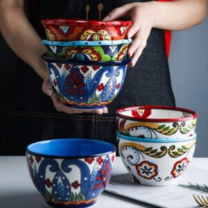 Bohemian Hand Painted Ceramic Tableware