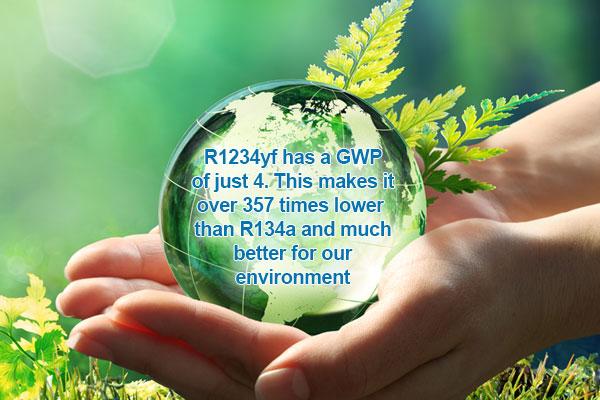 R1234yf R134a Environmental
