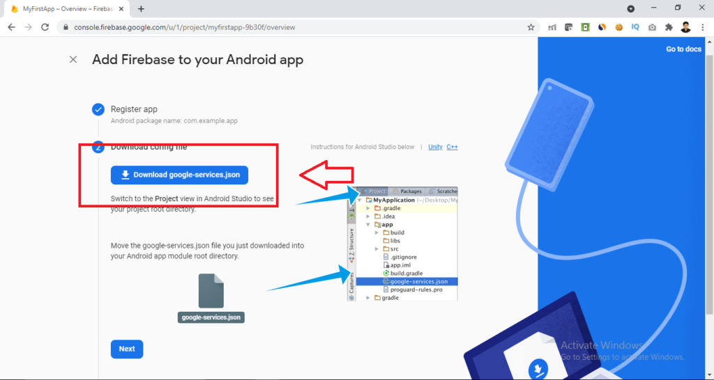 download google services json file