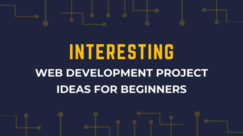 web development project idea