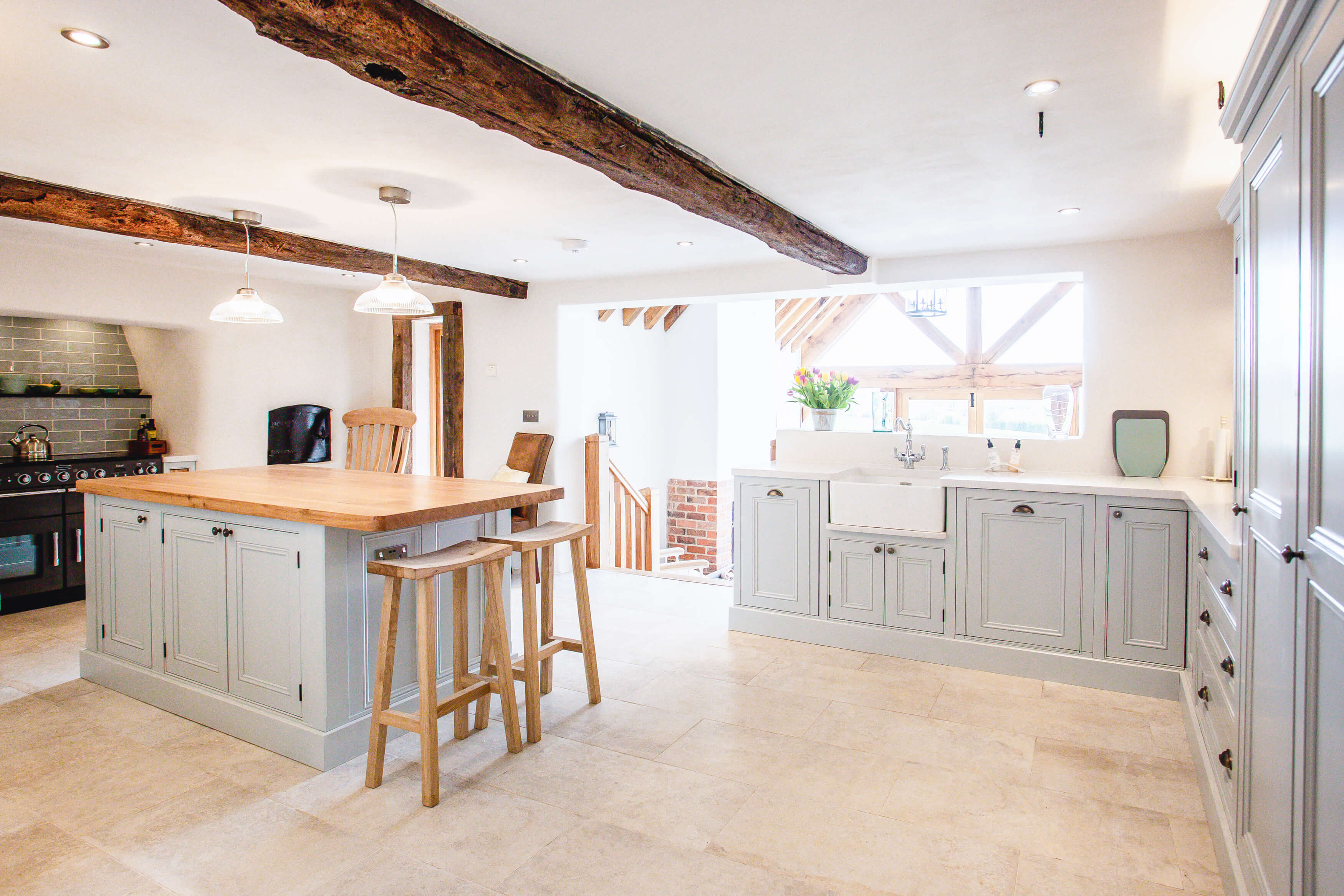 Elegant Bespoke Living, Bespoke Kitchen, Leamington Spa, Carpentry, Joinery, Kitchen, Kitchen Island, Bar stools, welsh dresser, Interior Design,  Designer Kitcehn