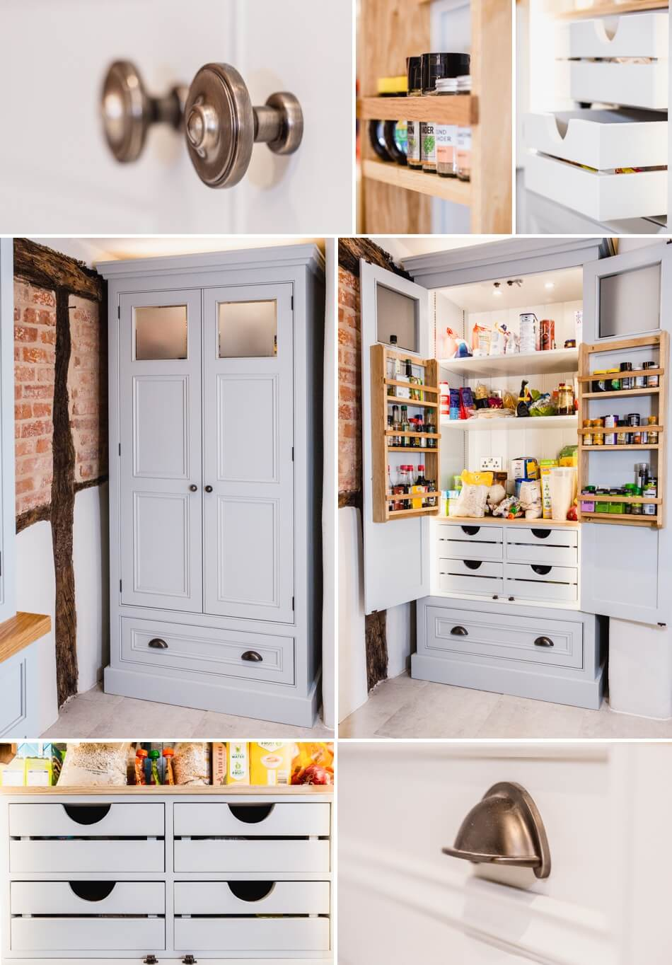 Bespoke kitchen larder,Elegant Bespoke Living, Kitchen, Leamington Spa, Joinery, Food larder, kitchen larder