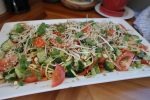 Asian Noodle Salad with Teriyaki Dressing